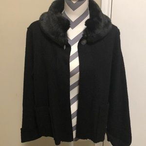 Evan Picone Jacket SZ S Black Murano Wool …